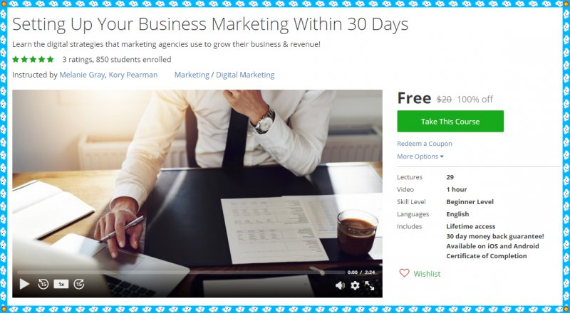 100 Free Udemy Course Setting Up Your Business