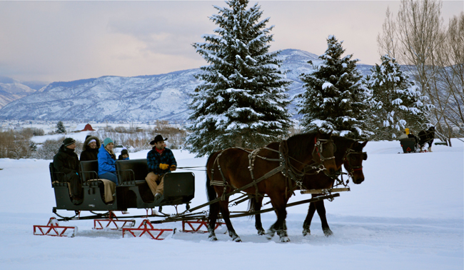 sleigh ride | winter activities for families | Utah