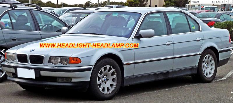 headlight headlamp parts 1999 2001 bmw 7series e38 725tds 728i 728il 730d 730i 735i 740d 740i. Black Bedroom Furniture Sets. Home Design Ideas