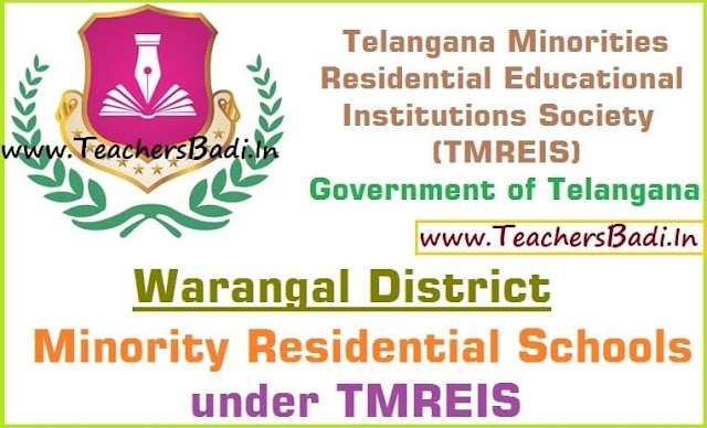 Warangal District,Minority Residential Schools,TMREIS