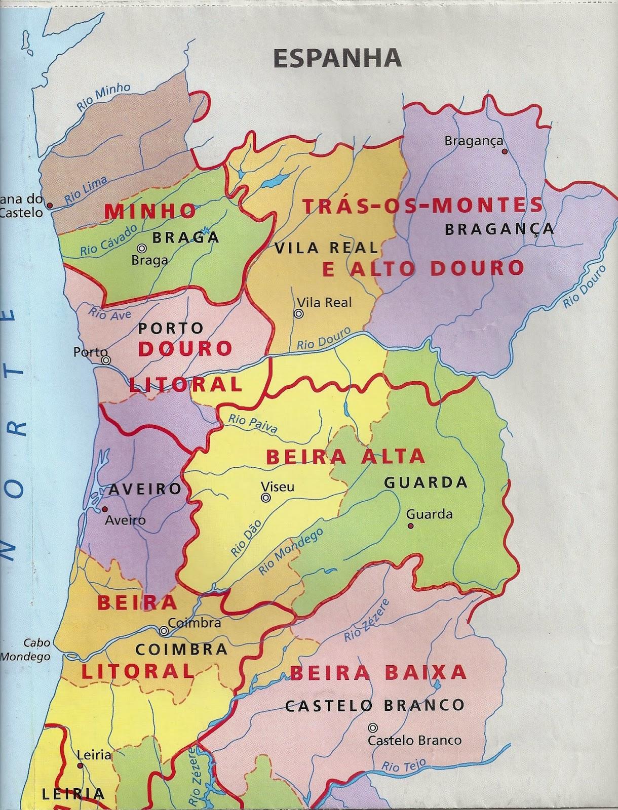 mapa de portugal beira interior Conhecer Portugal, a Beira Interior mapa de portugal beira interior
