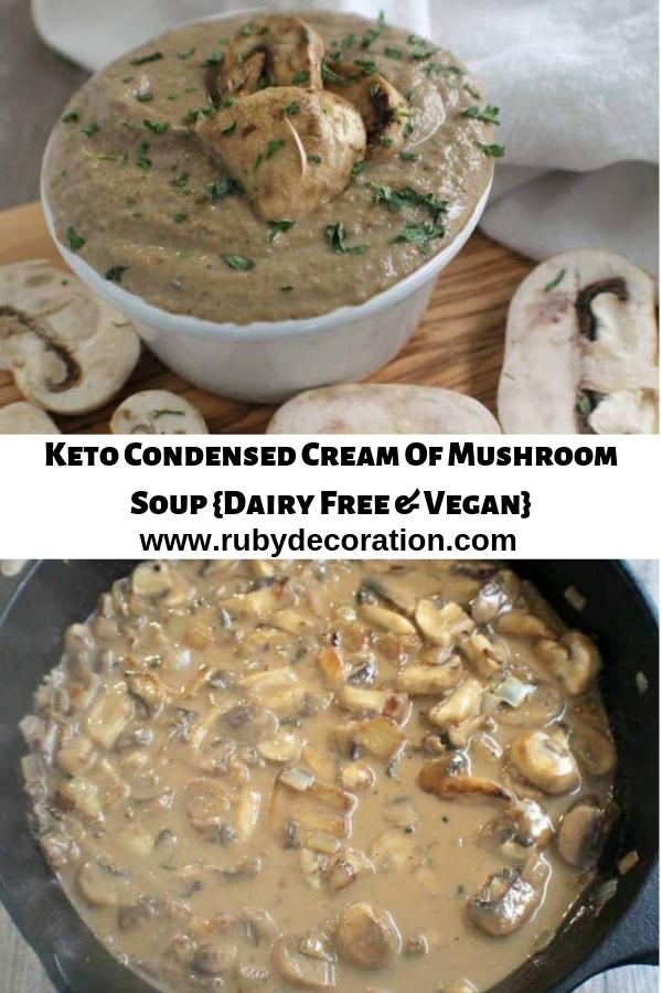 Keto Condensed Cream Of Mushroom Soup {Dairy Free & Vegan}