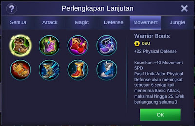 Warrior Boots Mobile Legends