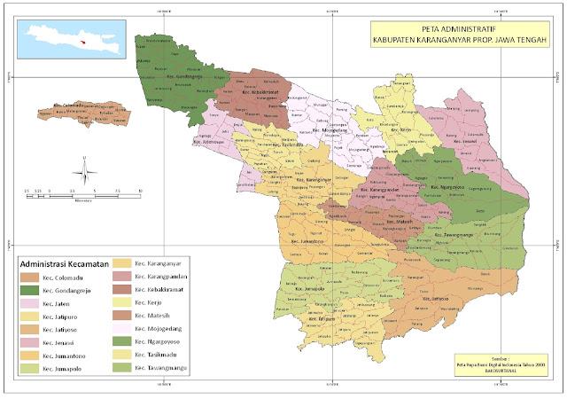 Peta Kabupaten Karanganyar