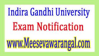 Indira Gandhi University M.Sc (Mathematics With C.S) IIIrd Sem 2017 Exam Notification