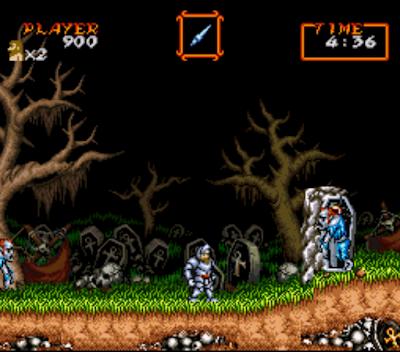 【SFC】超魔界村(Super Ghouls'n Ghosts)原版+無敵無限跳Hack版+金手指!