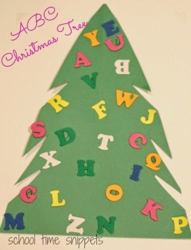 letter match christmas tree