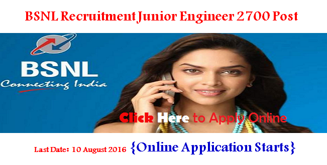 BSNL Recruitment 2016