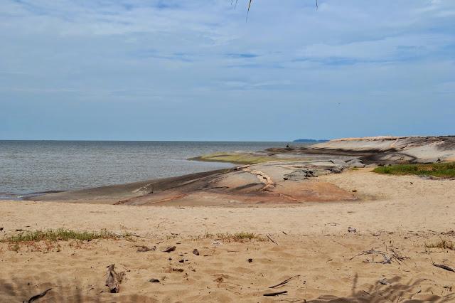 Guyane, Kourou, plage pim poum, iles du salut