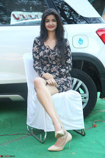 Kritika Telugu cinema Model in Short Flower Print Dress 031.JPG