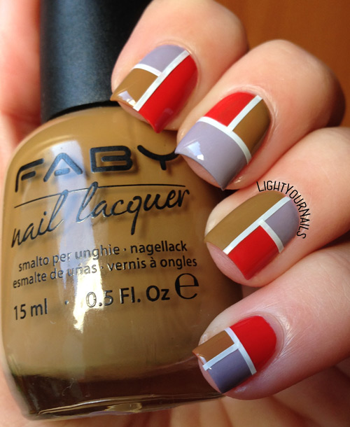 Faby Illusion geometric nail art