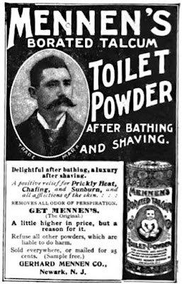 Mennen's borated talcum toilet powder