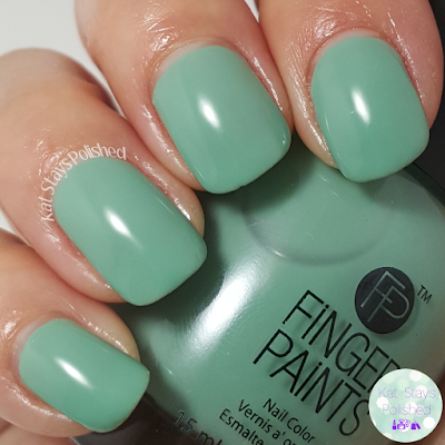 FingerPaints Ashley Nell Tipton Project Runway Collection - Party Teal Dawn | Kat Stays Polished