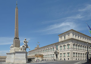 The Palazzo del Quirinale has been the residence in Rome of 30 popes, four kings and 12 presidents