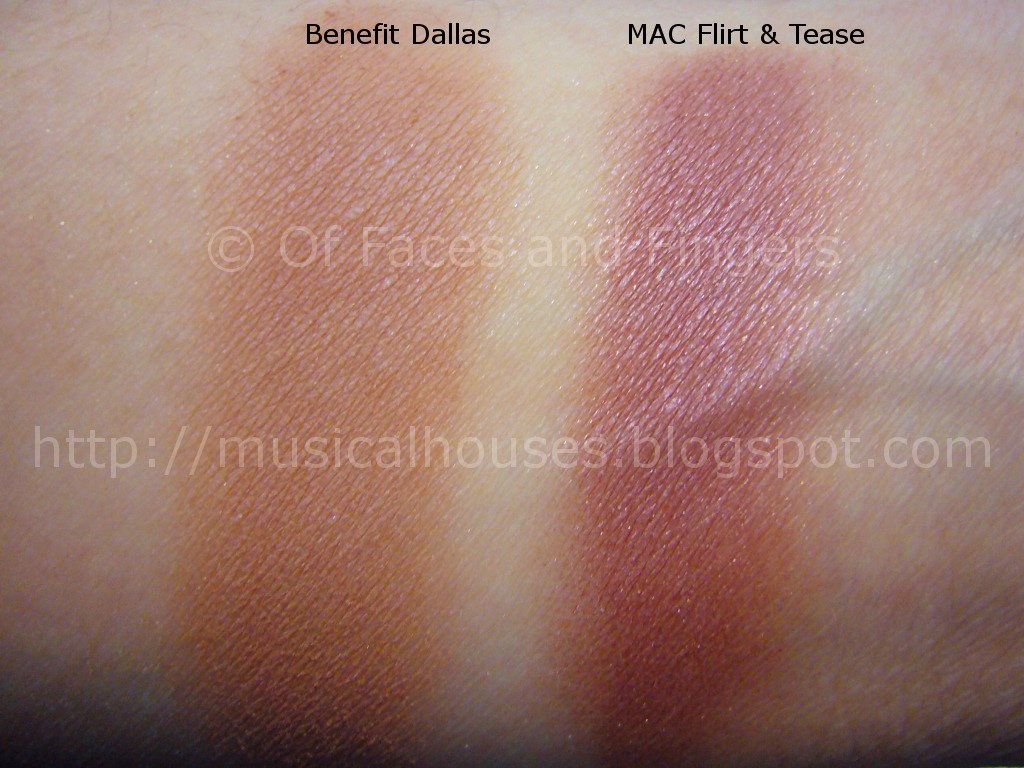 Dupes or Not? Benefit Dallas vs MAC Flirt and Tease - of Faces and ...