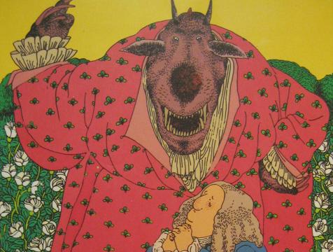 Ilustración de Miguel Ángel Pacheco, la Bestia y el mercader, para La Bella y la Bestia - Cine de Escritor