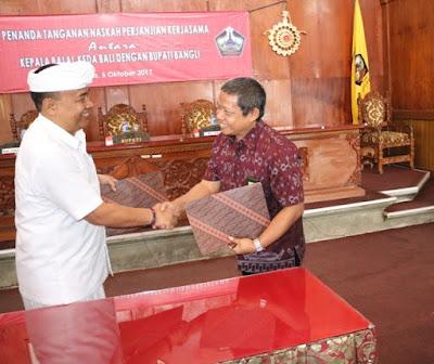 Bupati Bangli Laksanakan MoU Dengan BKSDA Bali