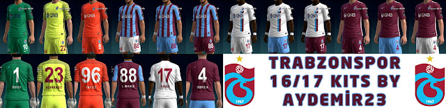 PES 2013 TRABZONSPOR 16/17 KITS BY AYDEMİR23