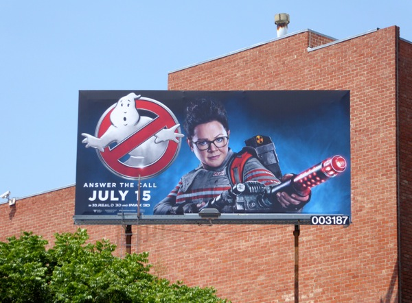 Ghostbusters 2016 movie billboard