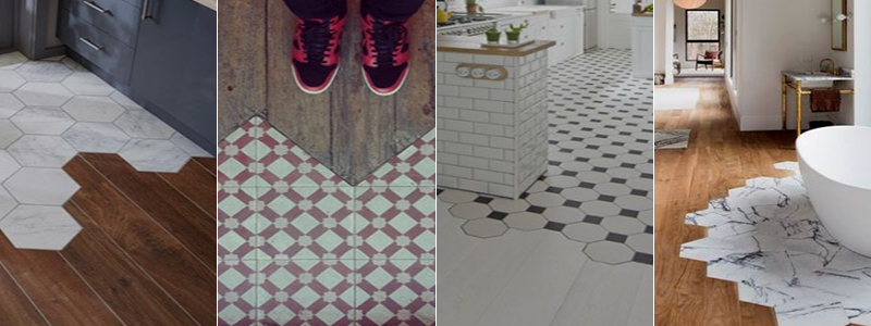 geometric flooring transition inspiration