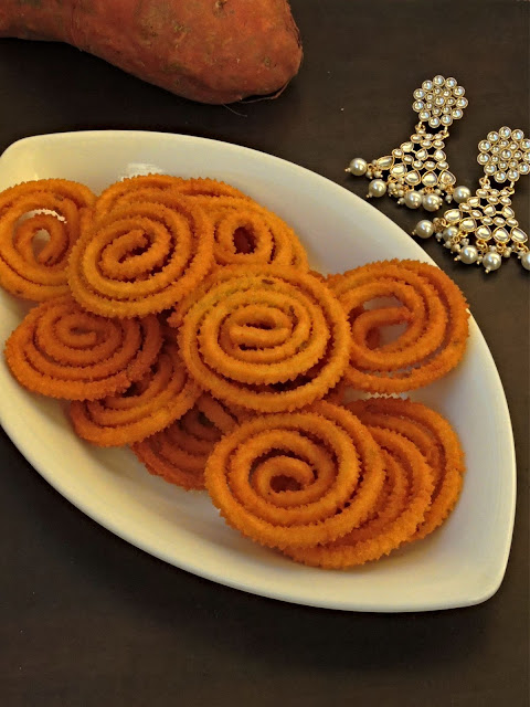 Gluten free Sweet Potato Murukku
