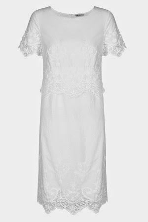 marksandspencer cotton floral embroidered dress