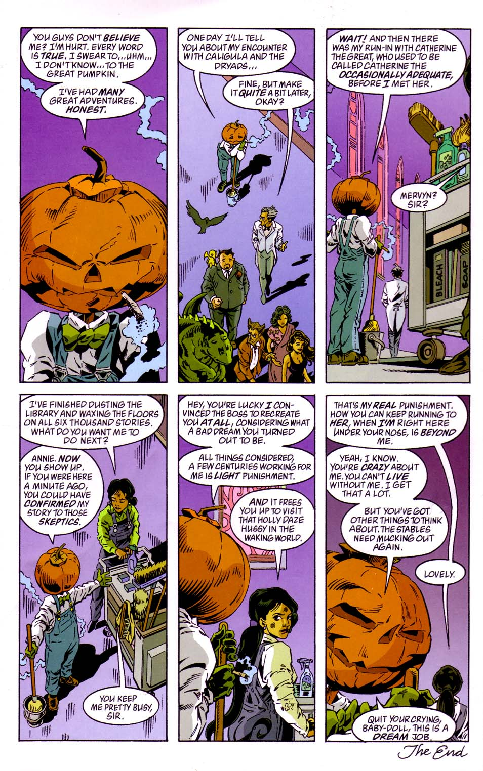 Read online Merv Pumpkinhead, Agent of D.R.E.A.M. comic -  Issue # Full - 48