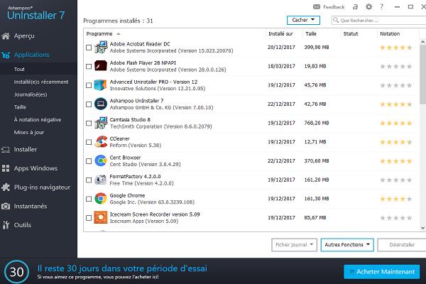 تحميل برنامج إلغاء تثبيت البرامج على الكمبيوتر من جدورها Ashampoo Uninstaller آخر إصدار