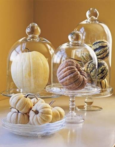 decorating-with-cloches-pumpkins-glass-dome