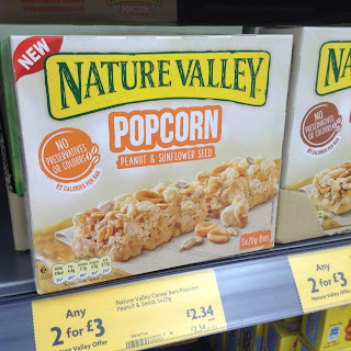nature valley popcorn bar peanut sunflower