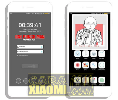 Themes MIUI One Punch Man Mtz Update New For Xiaomi