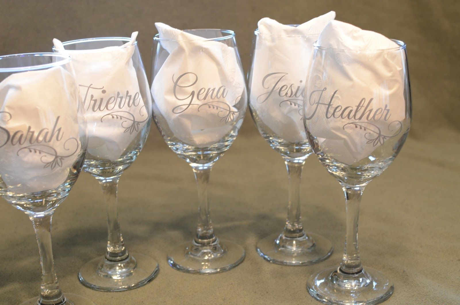 Gina S Creative Chaos Wedding Glasses
