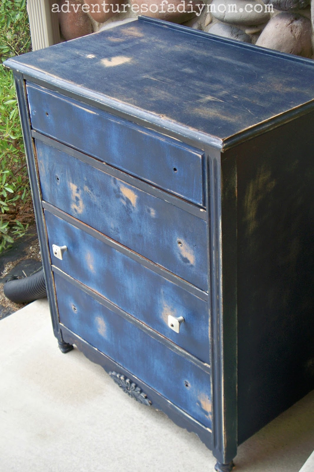 Blue Distressed Dresser