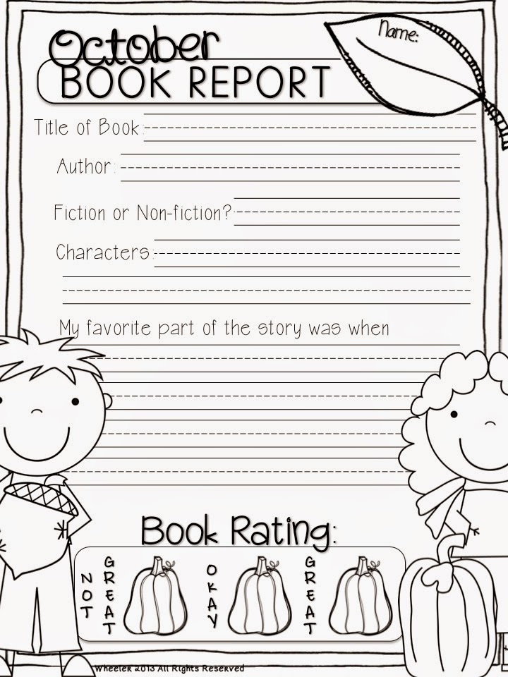 Book Reports And Giveaways  Grade 2 Book Report Template