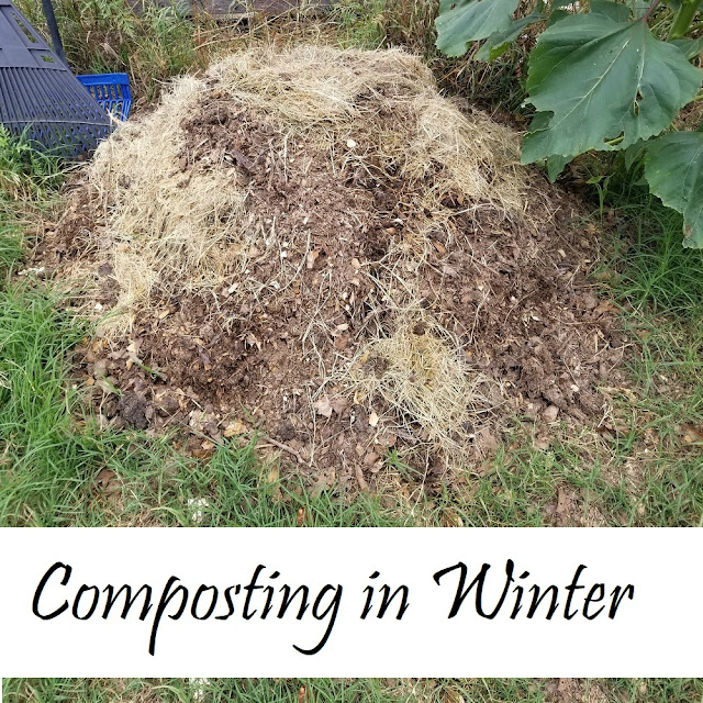 How to start a compost pile in the winter. (c) Oak Hill Homestead