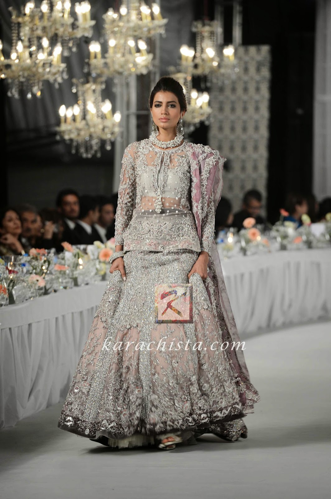 Rabia Butt in Elan Swarovski crystals ensemble