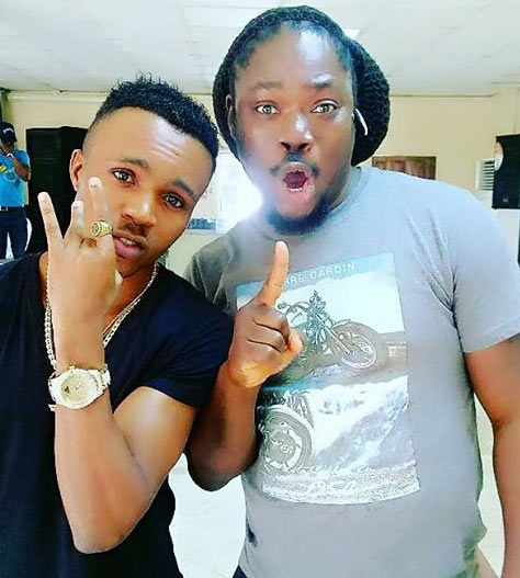 Humblesmith poses with Daddy Shokey