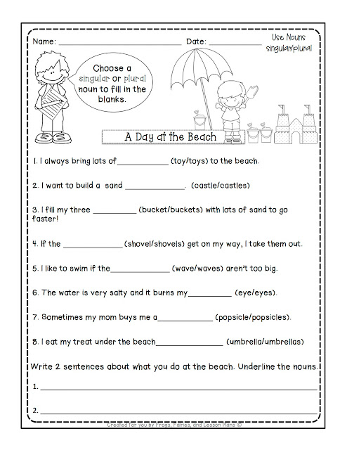 Singular or Plural Nouns Worksheet