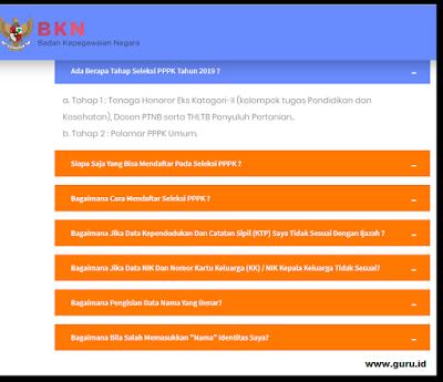 gambar tanya jawab seputar pendaftaran P3k 2019