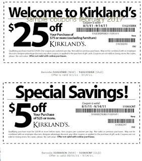 Kirklands coupons february