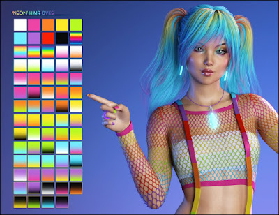 Color Rave Hair Dye and Emissive Shaders