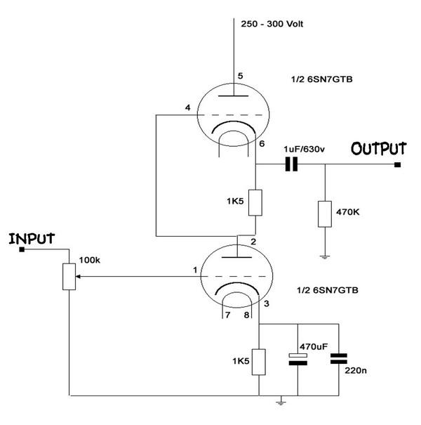 Berbagi Pengetahuan: Preamp tube 6SN7 SRPP