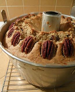 Closeup of Baked Cake in Pan