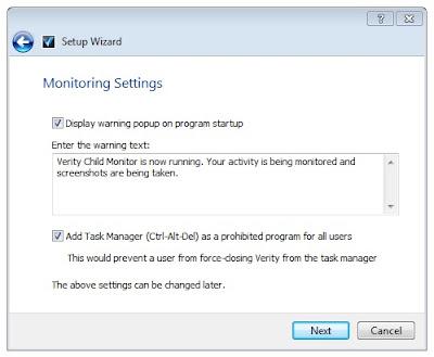 set verity monitoring settings