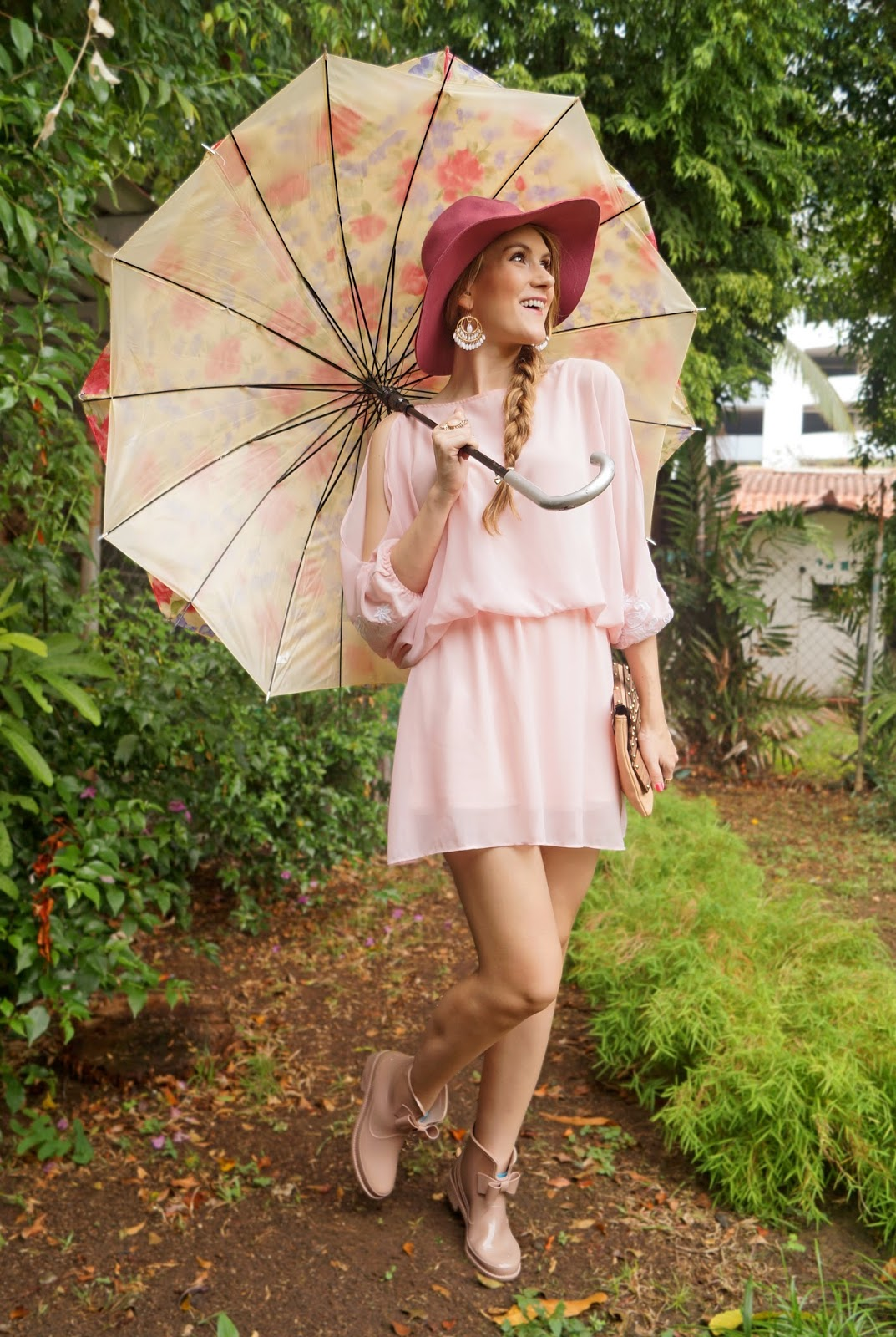 Cute Spring outfit for a Rainy Day