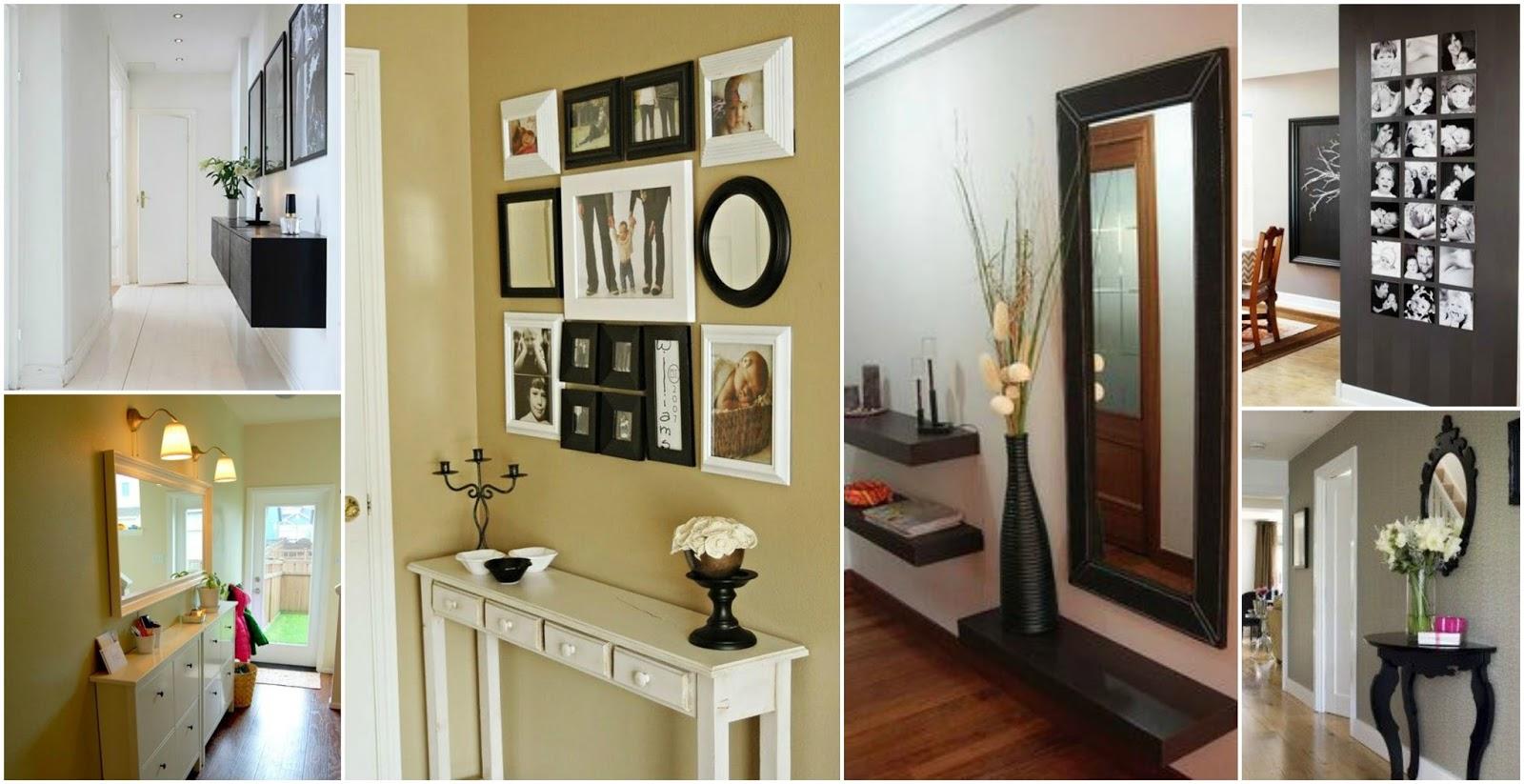 12 Hermosas Ideas para decorar pasillos y recibidores en casa