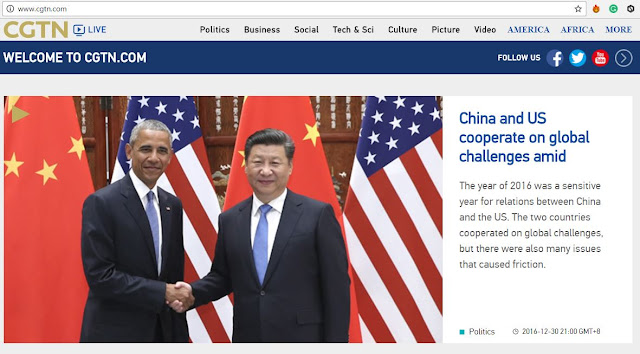 Image Attribute: China's CGTN New Official Website Screenshot