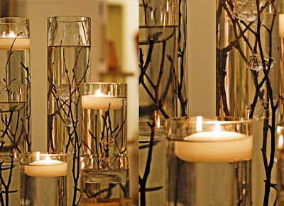 Wedding Reception Candle Centerpieces