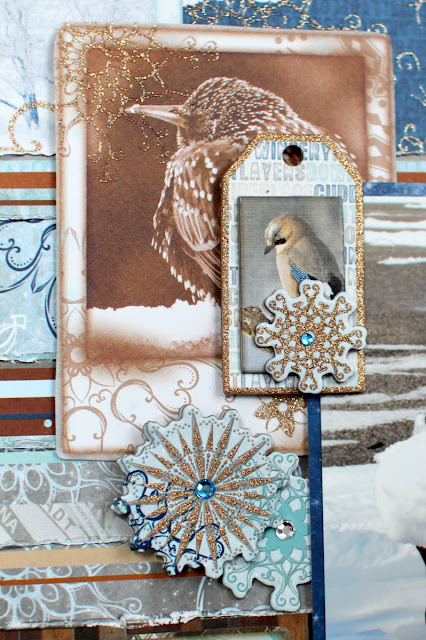 Winter Wonderland Fun Layout Three Ways by Ilene Tell using BoBunny Whiteout collection detail 1