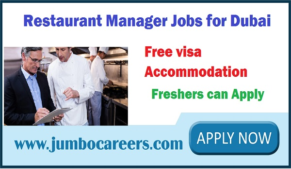 Hotel Manager jobs in Dubai UAE, Latest restaurant jobs with benefits,